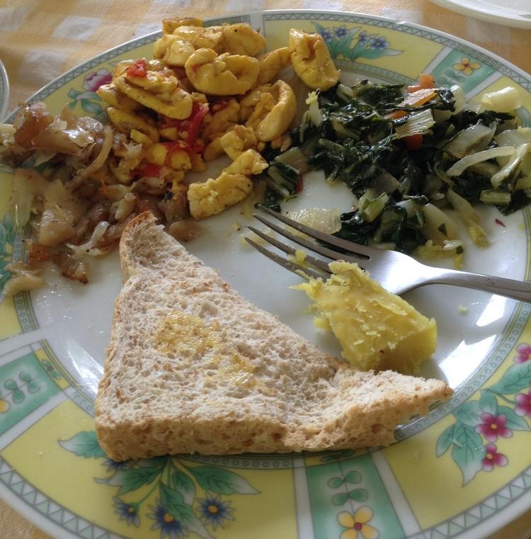 Traditional saltfish and acke