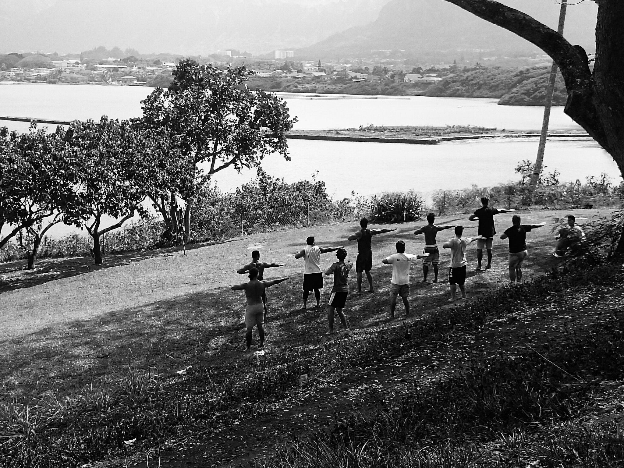 Traditional dancers rehearsing - Heeia Park, Oahu