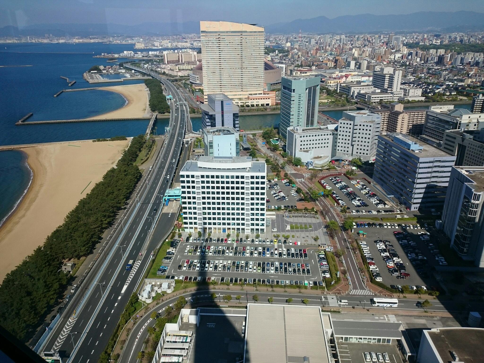 Vue depuis la tour de Fukuoka