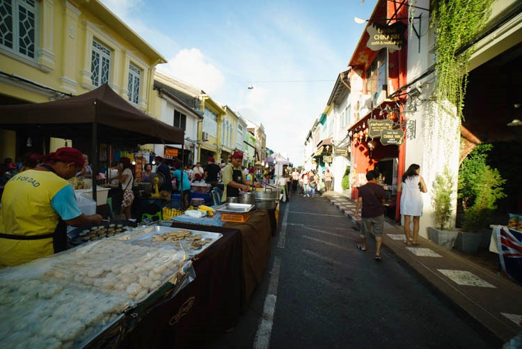 Sunday street market in Phuket town
