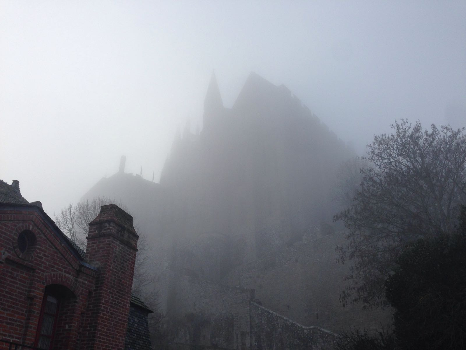 Mont-Saint-Michel in the fog
