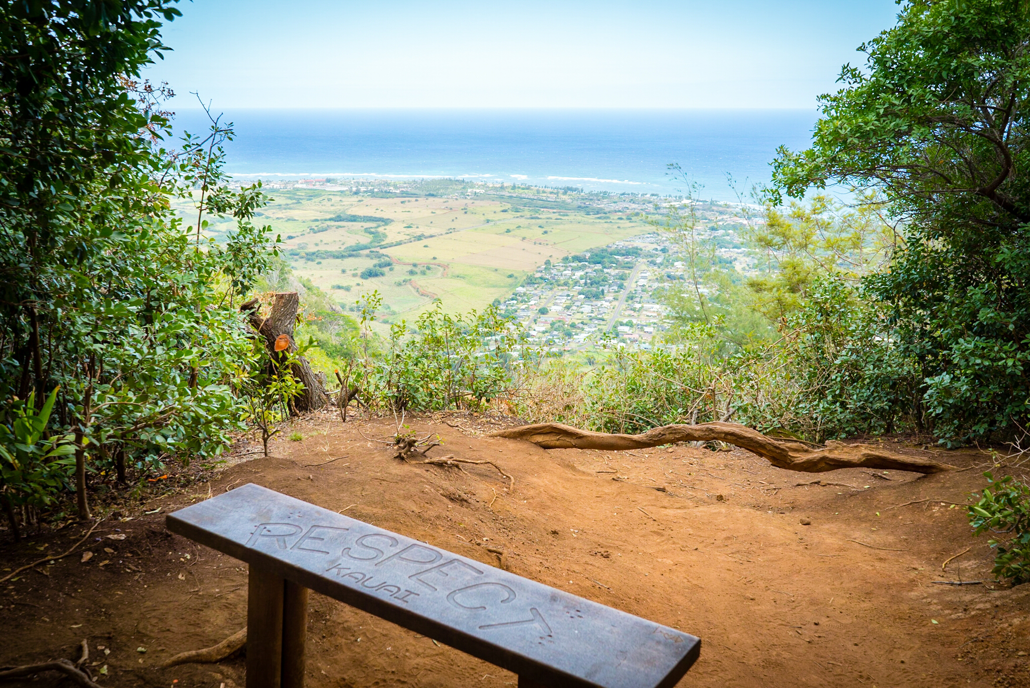 Hiking the sleeping giant trail in Kauai