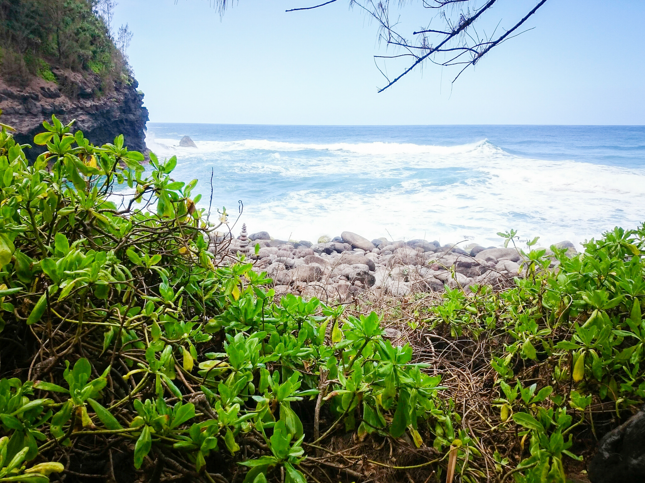 Kalalau trail in Kauai