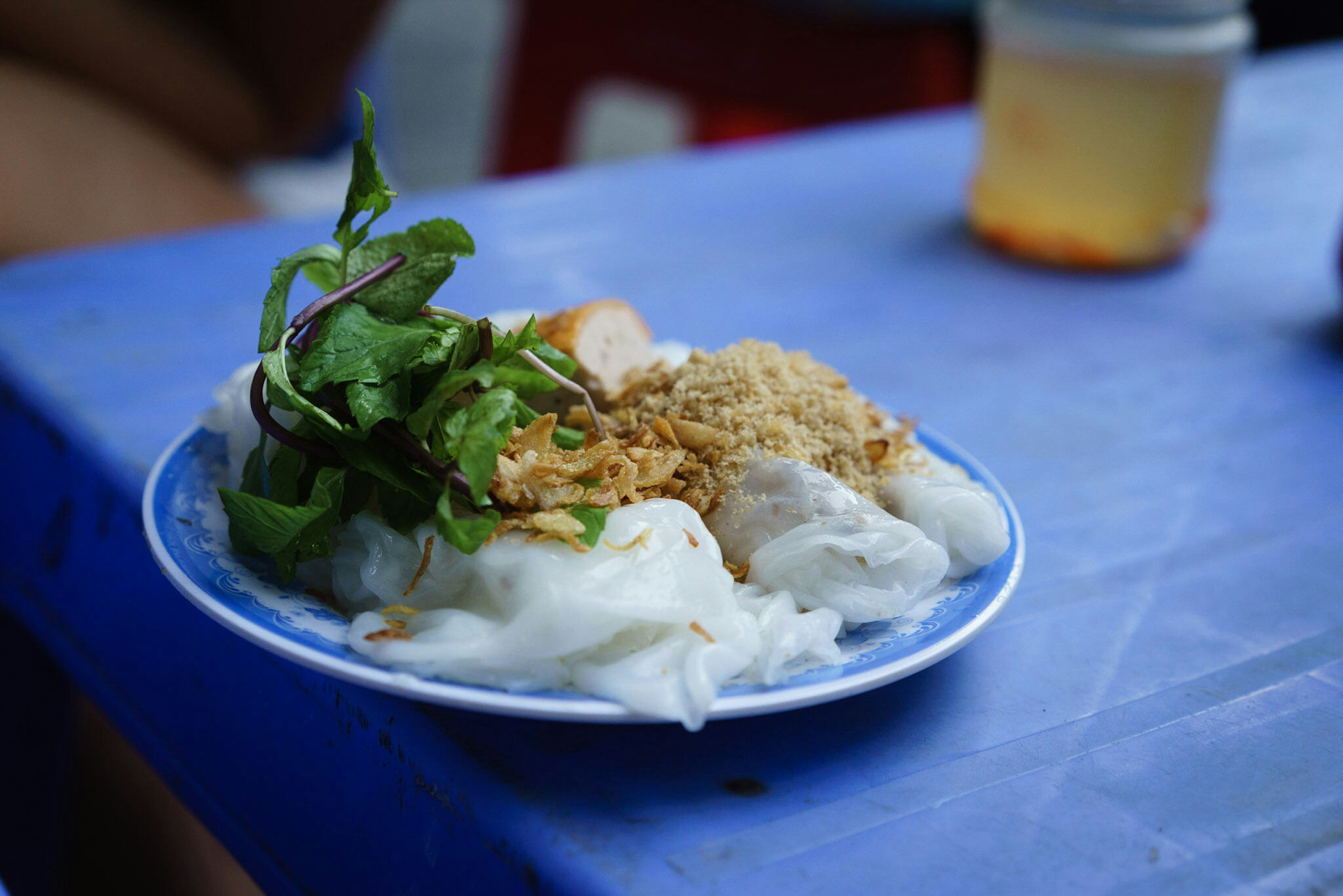 "Steamed rice ""pancake"" (Banh cuon)"