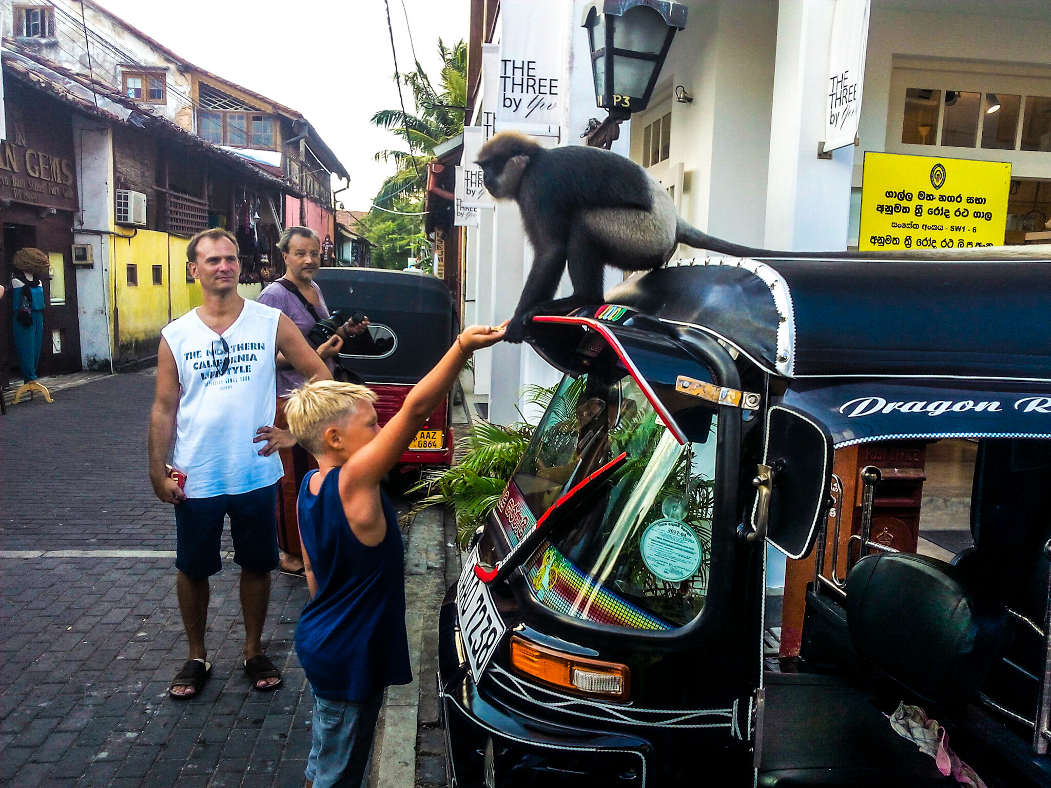 Funny encounter in Galle