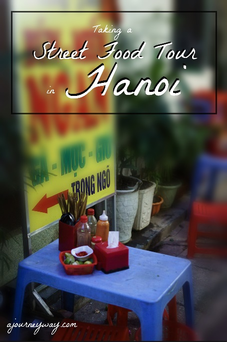 Going on a street food tour in Hanoi, Vietnam