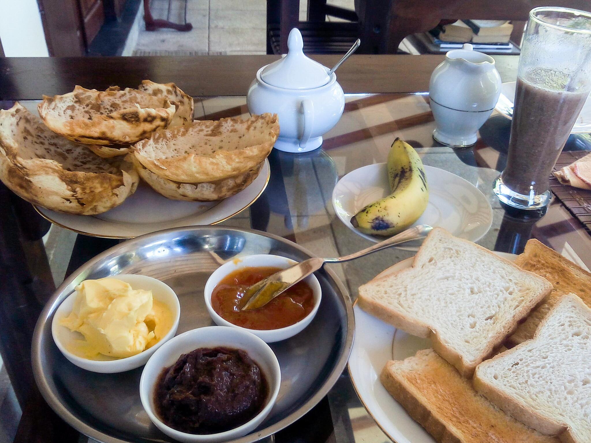 Hoppers au petit-déjeuner, Sri Lanka