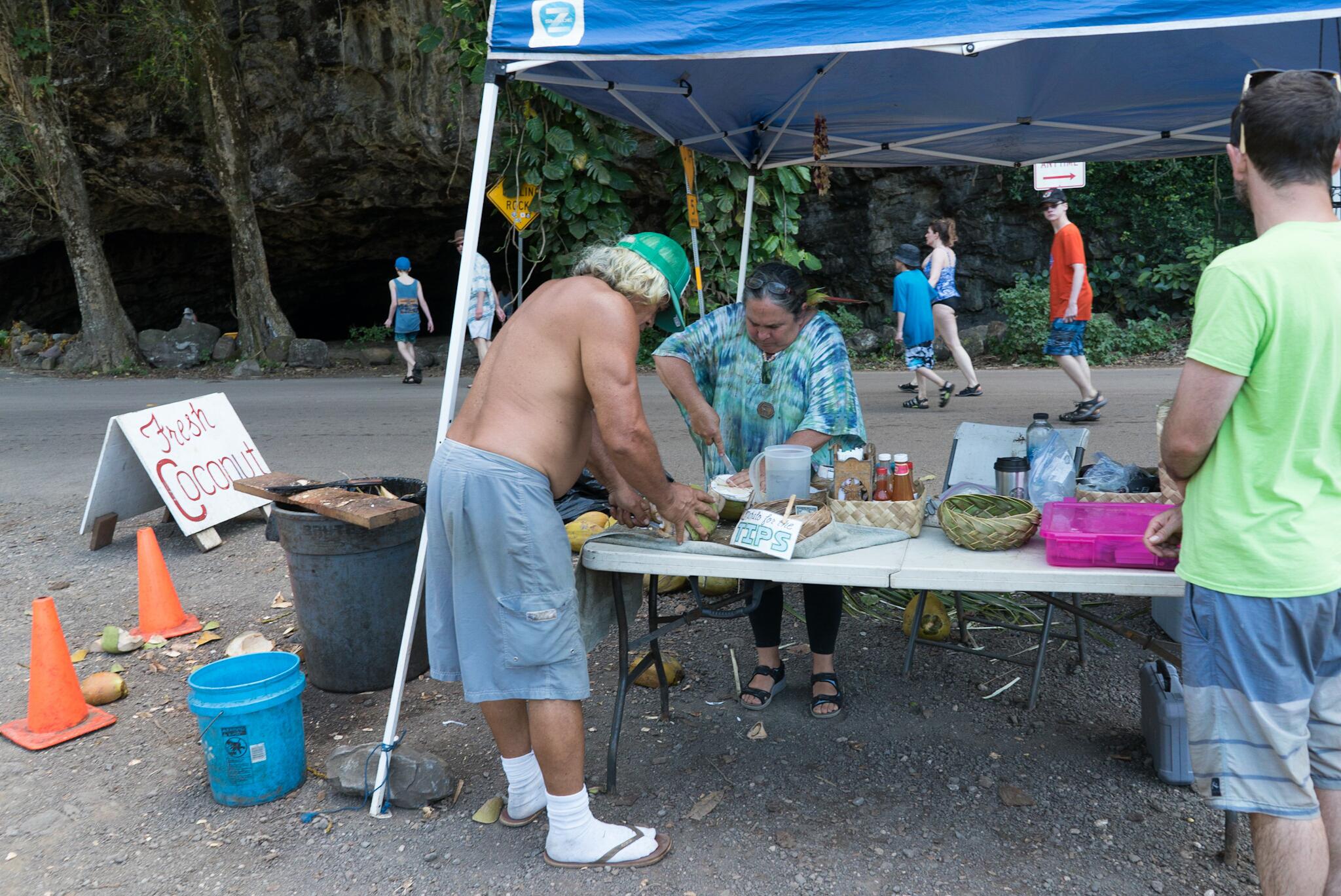 Coconut man à Haena, Kauai