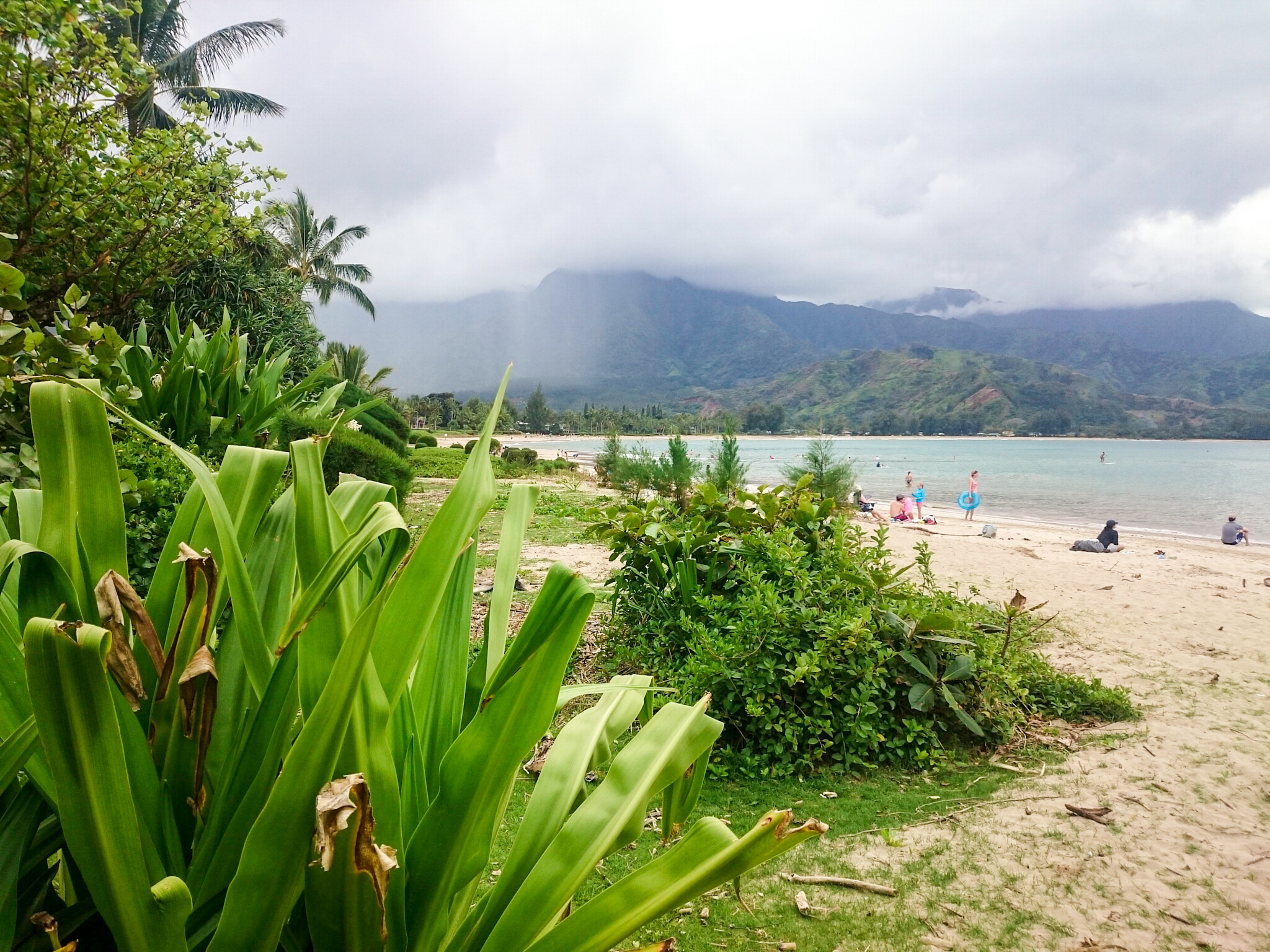Hanalei beach in Kauai