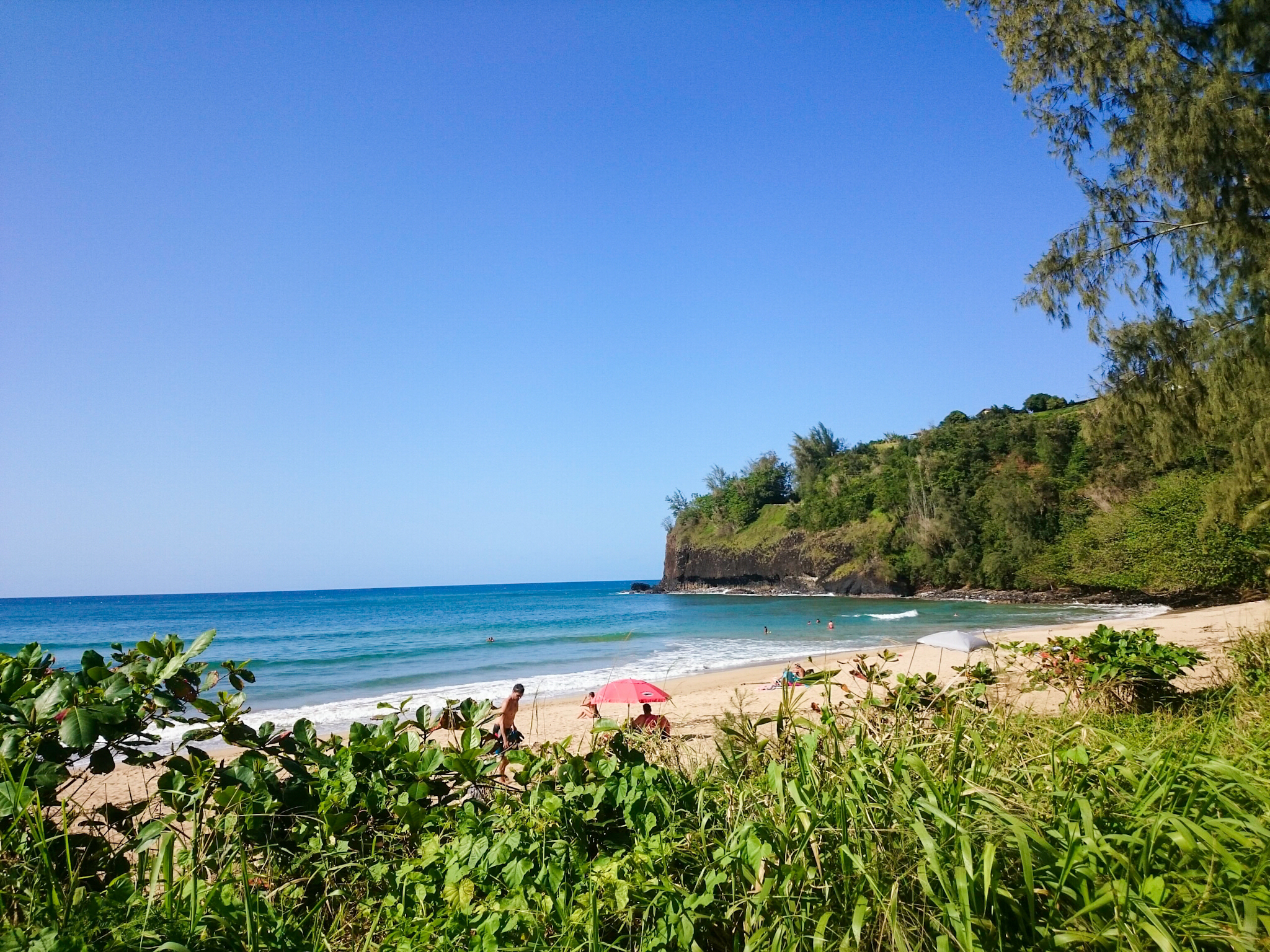 Plage de Kalihiwai à Kauai
