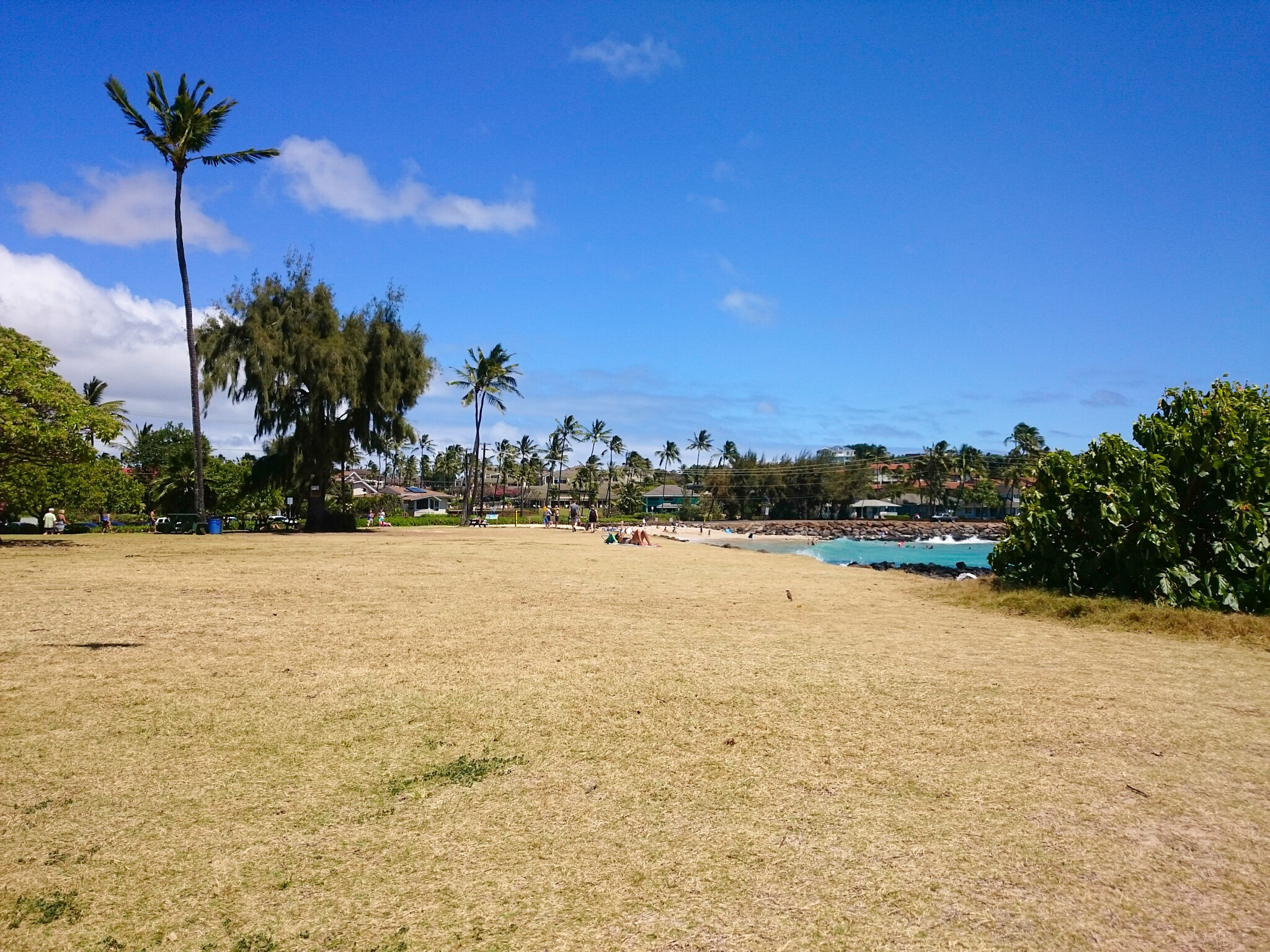 Poipu beach park in Kauai, Hawaii