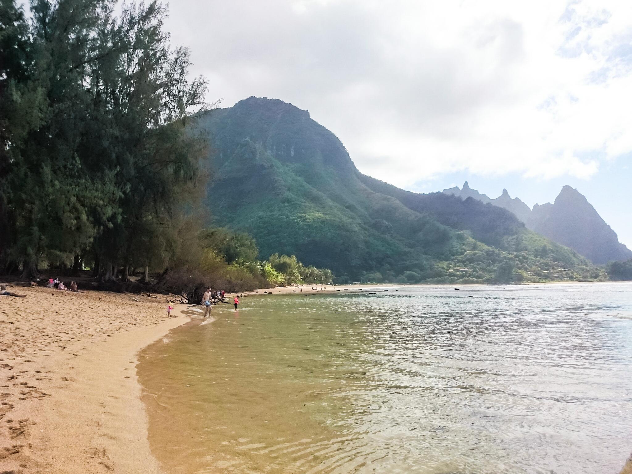 Plage Tunnels à Kauai, Hawaï