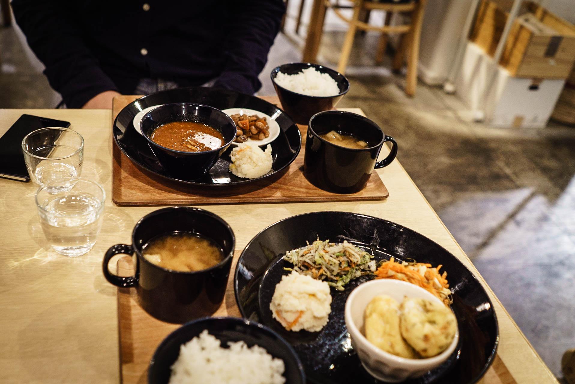 Cuisine Shojin ryori au restaurant Komaki Shokudo à Tokyo