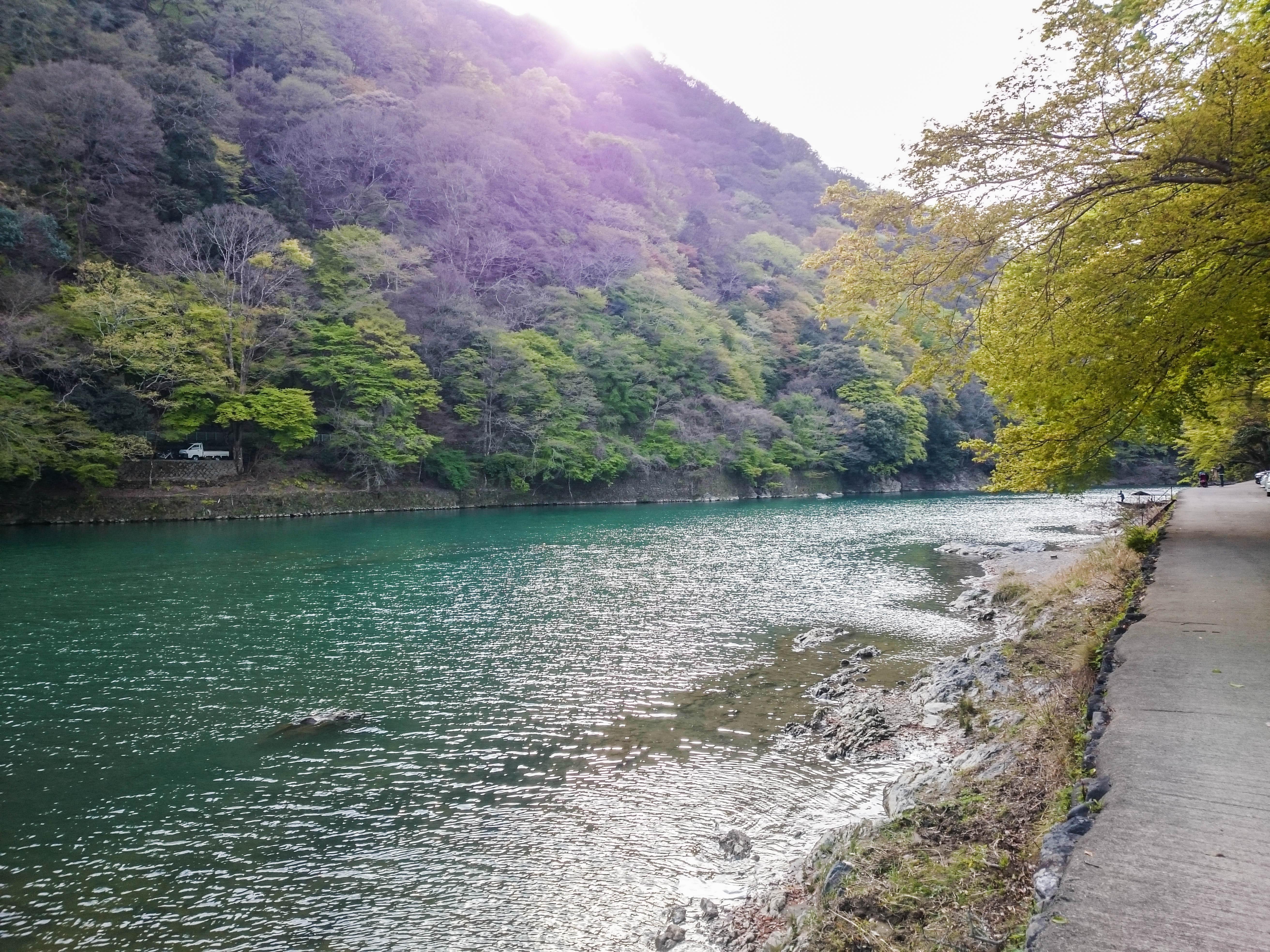 Hozugawa river in Arashiyama